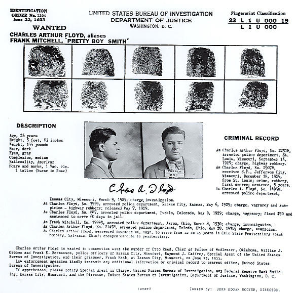 1930s Photograph - Pretty Boy Floyd, Wanted Poster by Everett