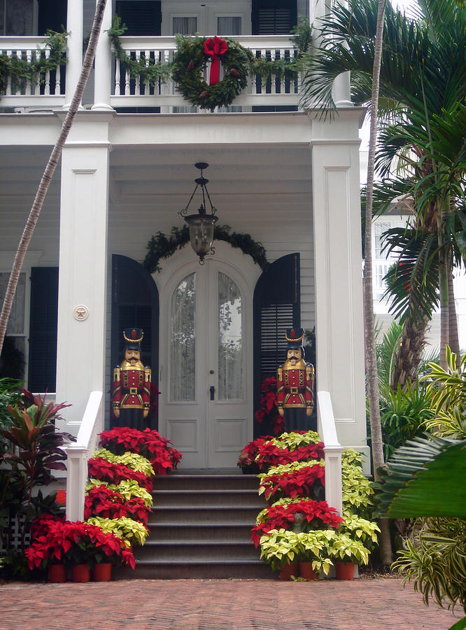 Pretty Christmas Decoration In Key West Photograph
