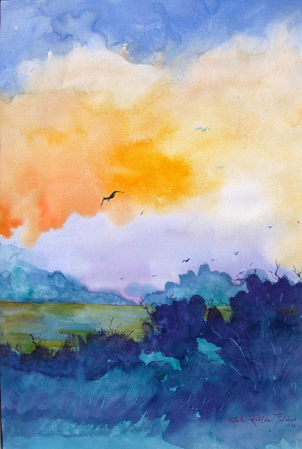Pretty Dawn Painting  - Pretty Dawn Fine Art Print