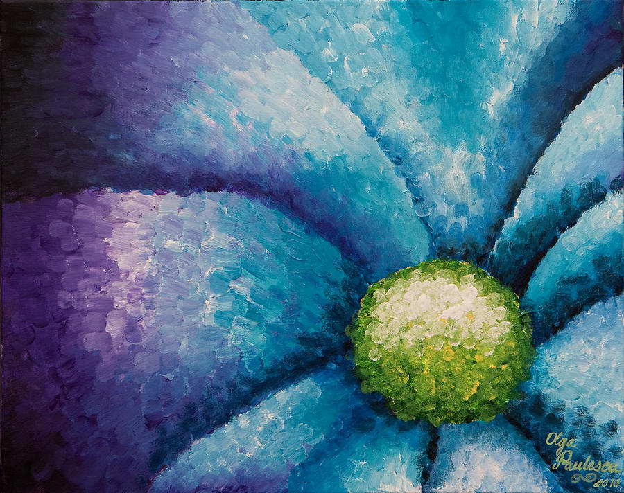 Pretty flower by olga paulescu for Pretty flower paintings