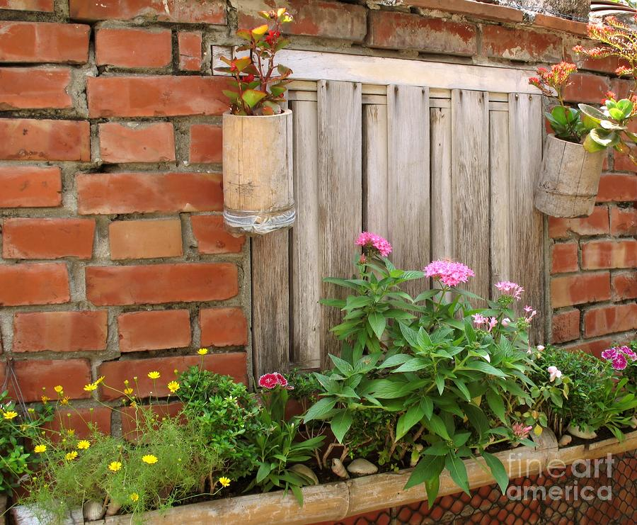 Pretty Garden Wall Photograph  - Pretty Garden Wall Fine Art Print