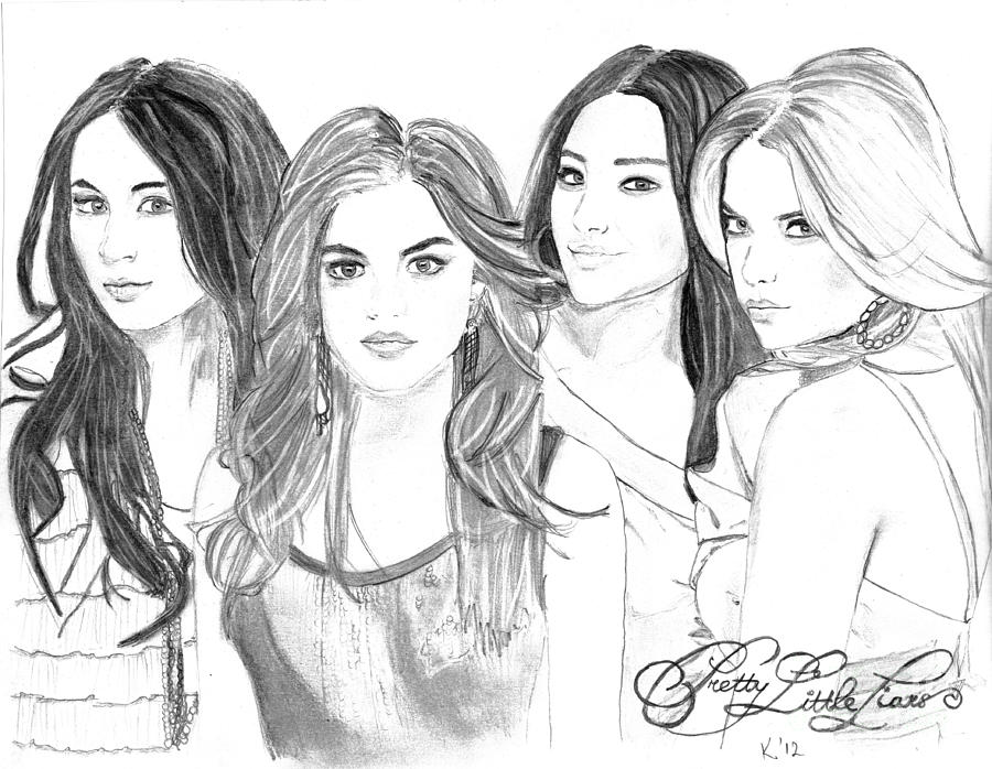 Pretty Little Liars Drawing  - Pretty Little Liars Fine Art Print