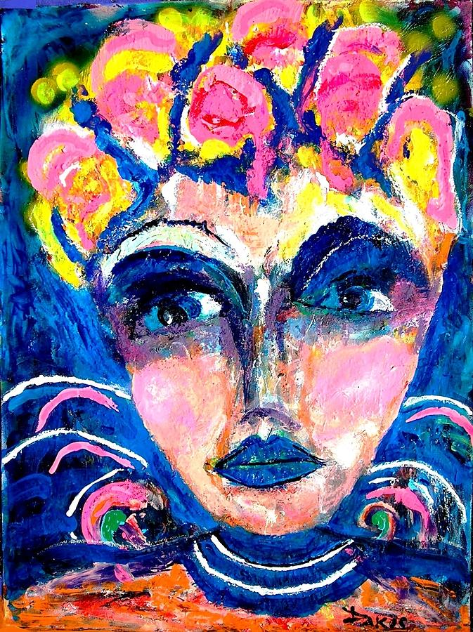 Faces Painting - Pretty Woman by Darlyne Sax