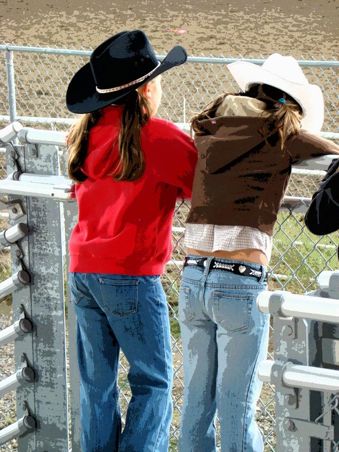 Pretty Young Cowgirls  Photograph