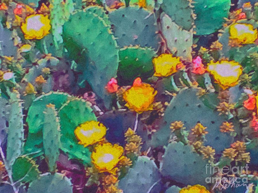 Prickly Pear Cactus 2 Painting  - Prickly Pear Cactus 2 Fine Art Print