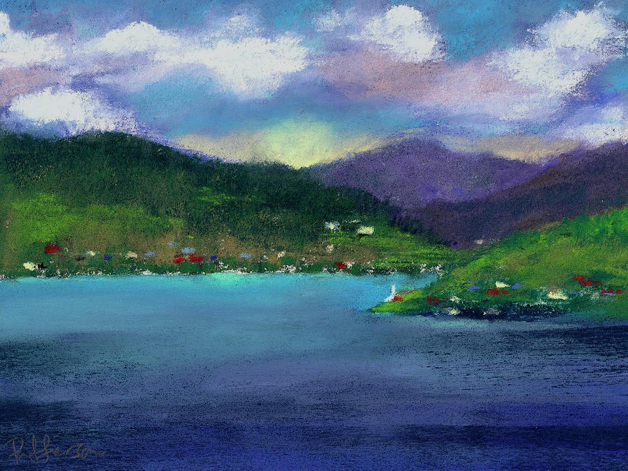 Priest Lake Bay Pastel