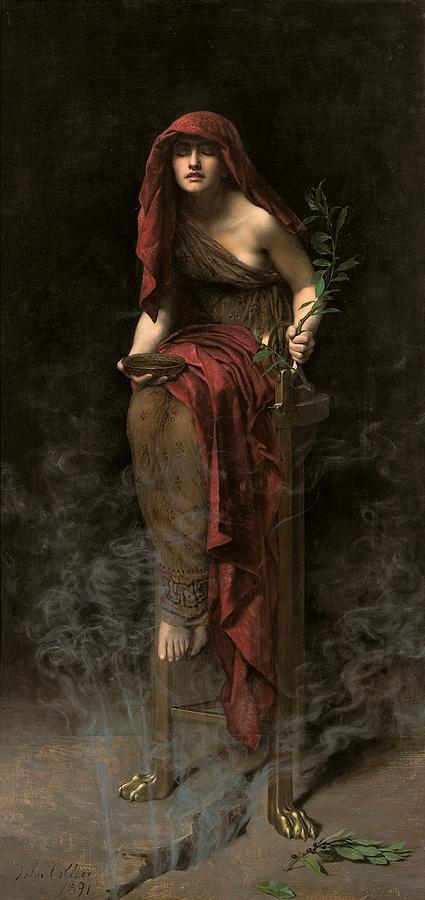 Priestess Of Delphi Painting