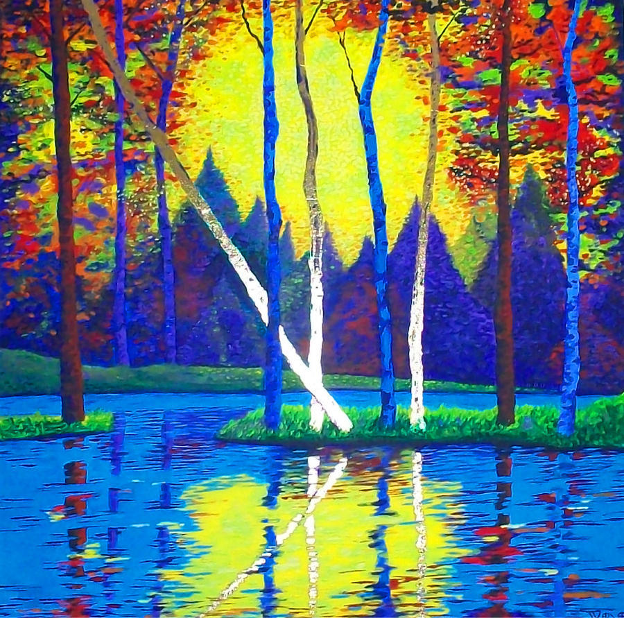 Tree Painting - Primavera by Randall Weidner