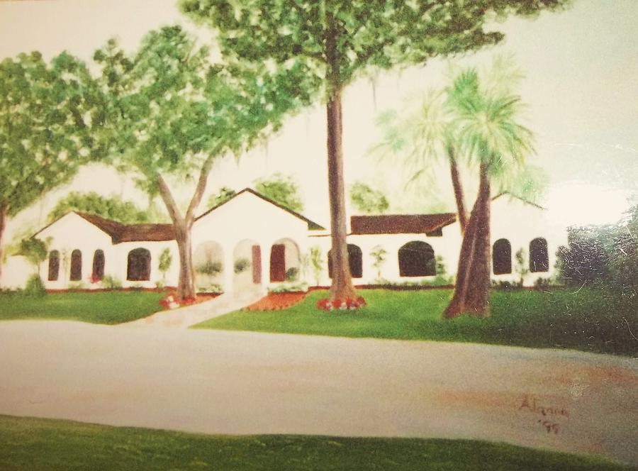 Landscape Painting - Prince Faisals Home In Fl by Alanna Hug-McAnnally