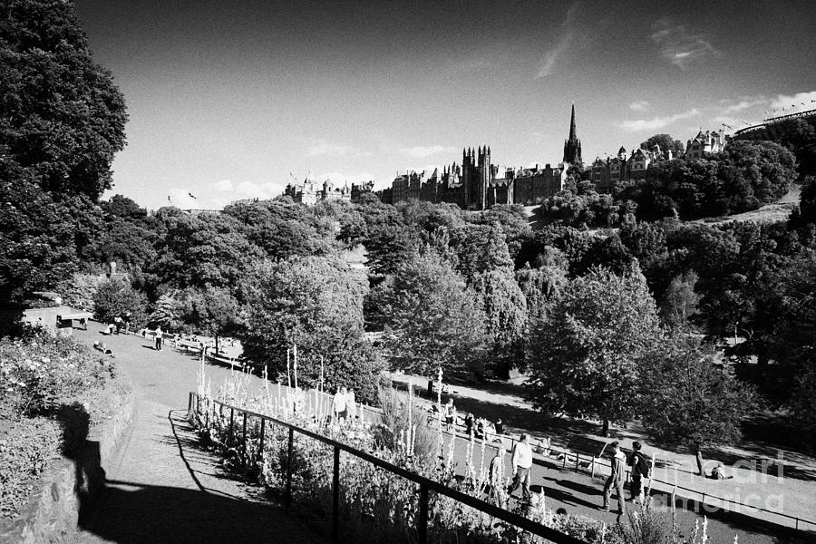 Princes Street Gardens Edinburgh Scotland Uk United Kingdom Photograph