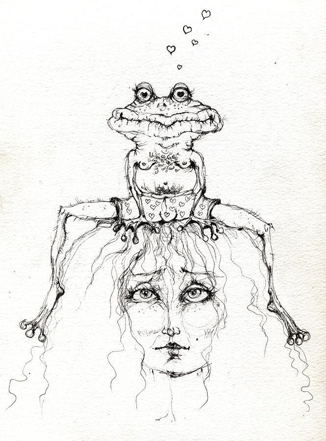 Princess And The Frog By Angel Tarantella Princess And The Frog Drawing
