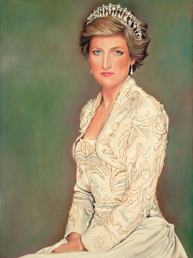 Princess Diana Painting  - Princess Diana Fine Art Print