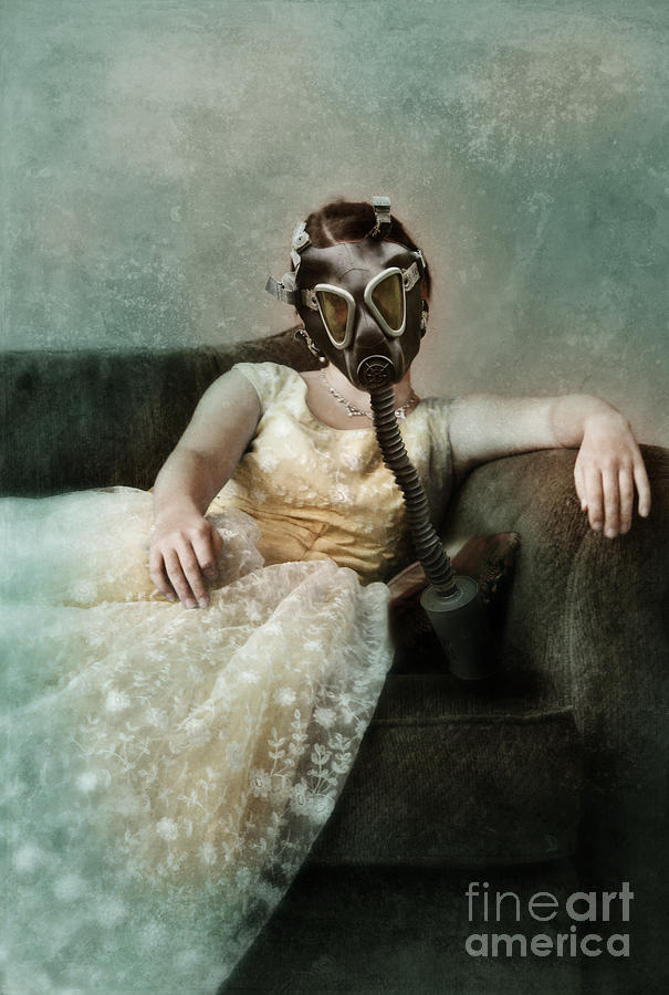 Lady Photograph - Princess In Gas Mask 2 by Jill Battaglia