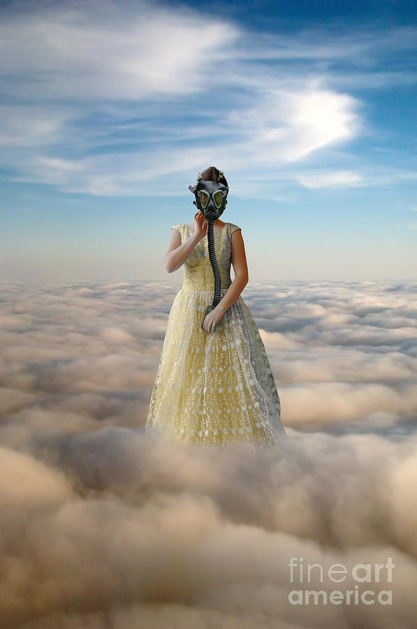Princess In Gas Mask 3 Photograph  - Princess In Gas Mask 3 Fine Art Print
