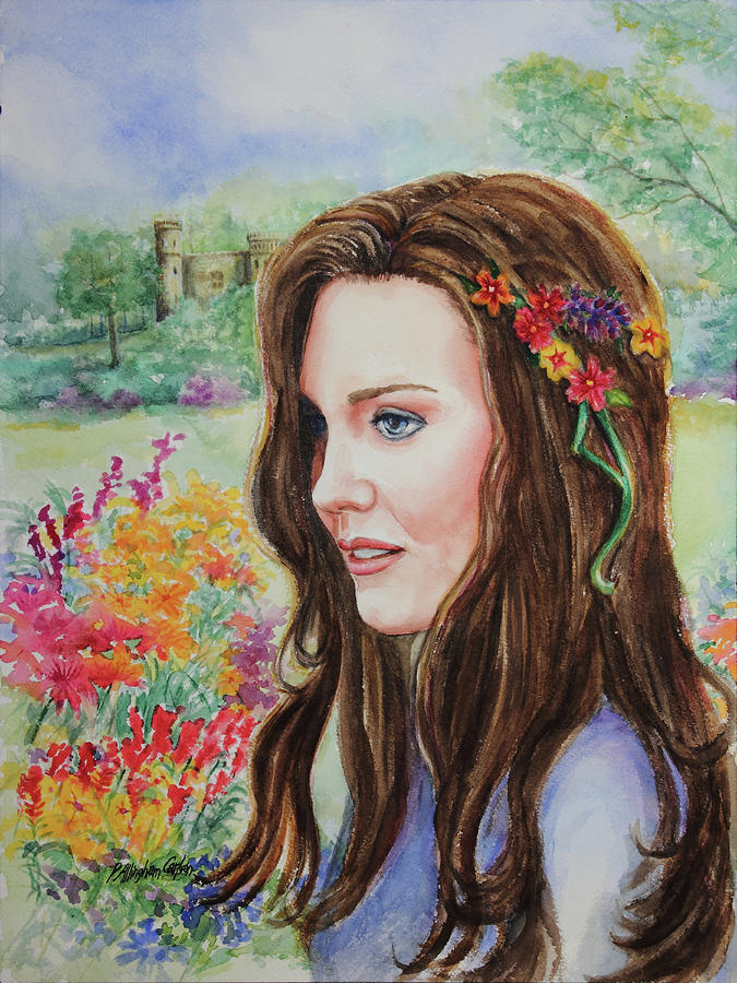 Princess Kate Painting  - Princess Kate Fine Art Print