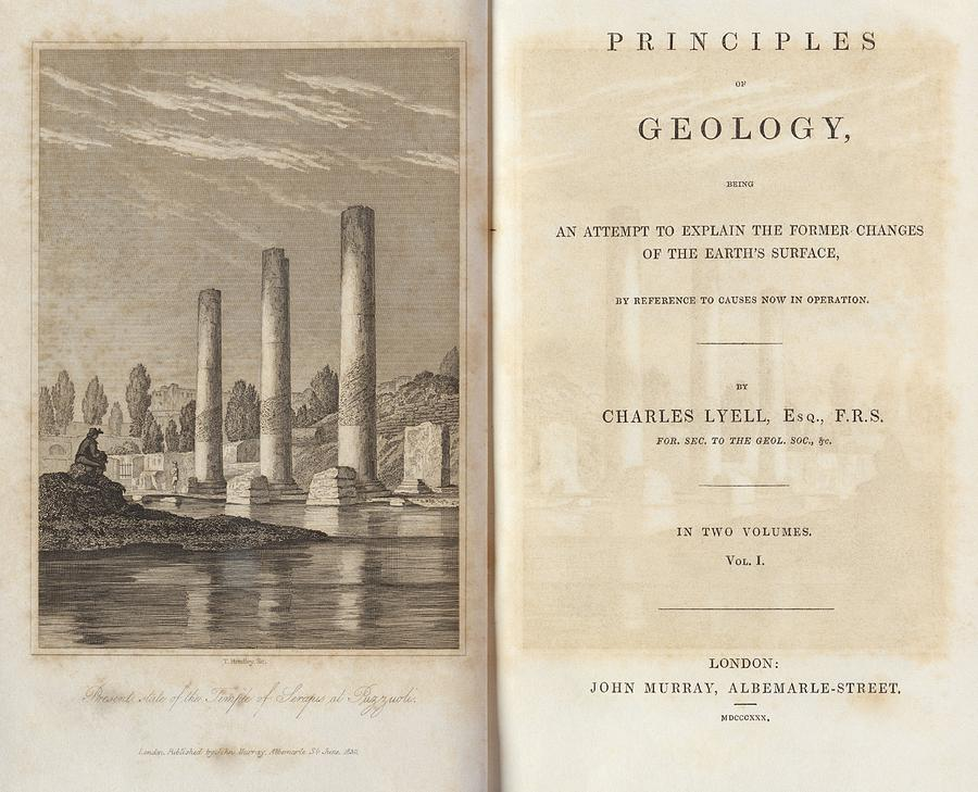 Principles Of Geology Photograph - Principles Of Geology (1830) by Kings College London
