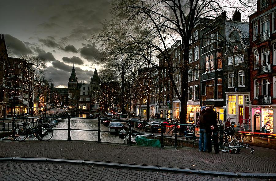 Prinsengracht And Spiegelgracht. Amsterdam Photograph