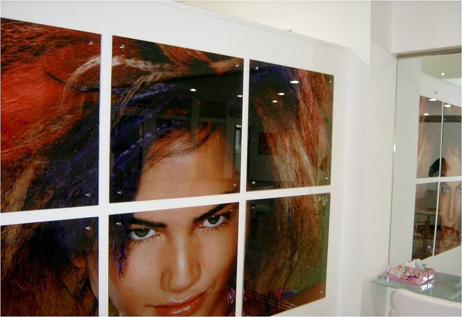 Its Printed Straight Away On  The Glass Glass Art - Printed Glass On Flatbed Machin  by Aimen Abdalla