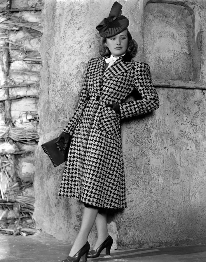 Priscilla Lane Modeling Houndstooth Photograph