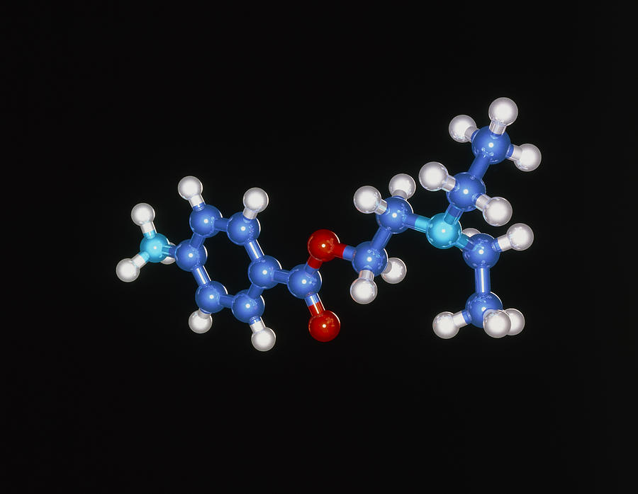 Procaine Anaesthetic Molecule Photograph  - Procaine Anaesthetic Molecule Fine Art Print