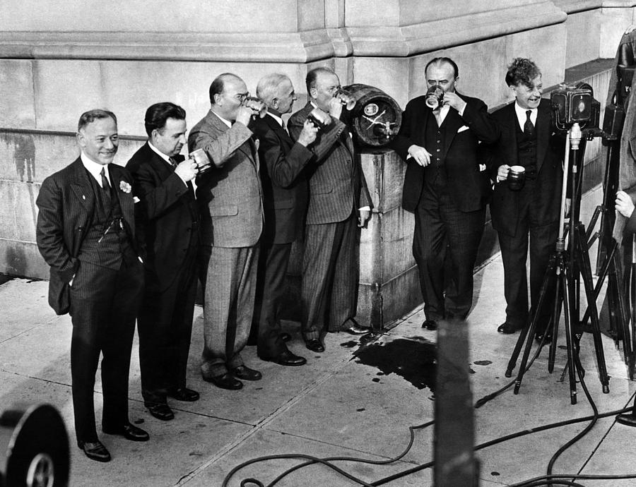 Prohibition Wet Congressmen Drinking Photograph