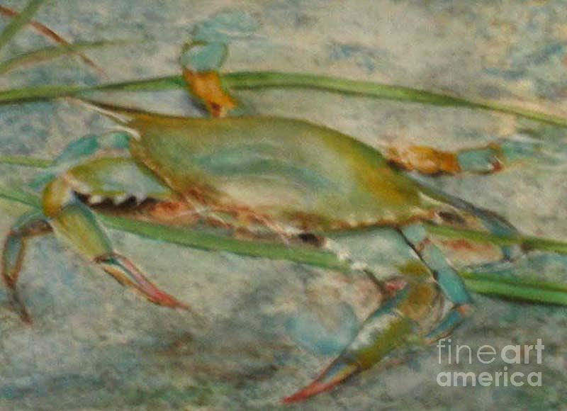 Propa Blue Crab Painting  - Propa Blue Crab Fine Art Print