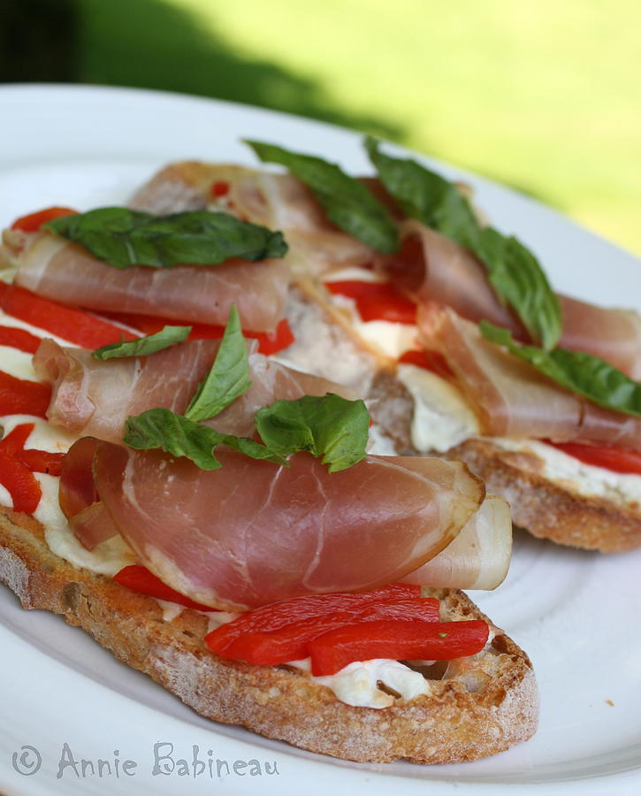 Prosciutto Photograph - Prosciutto And Mozzarella Crostini by Anne ...