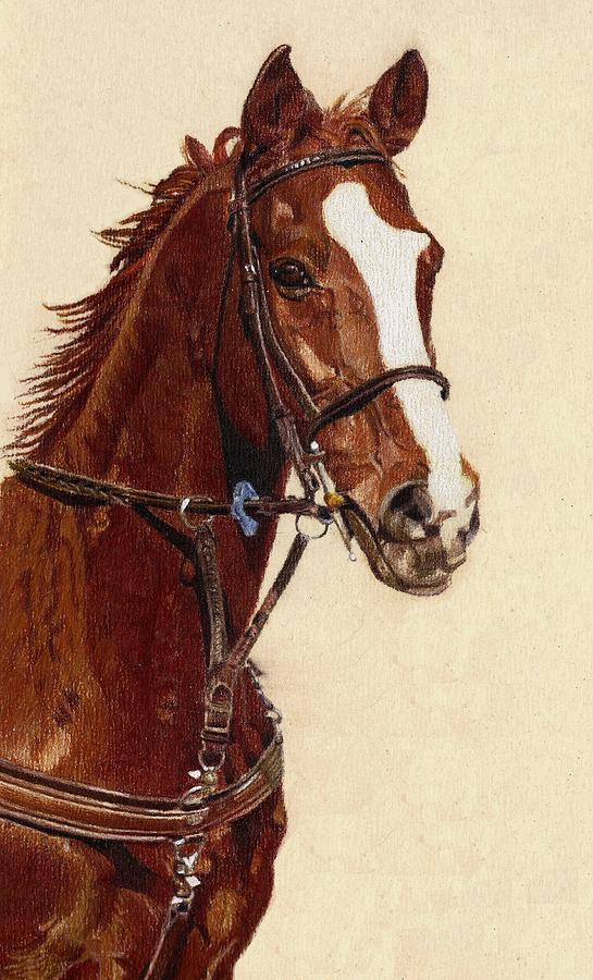 Proud - Portrait Of A Thoroughbred Horse Painting