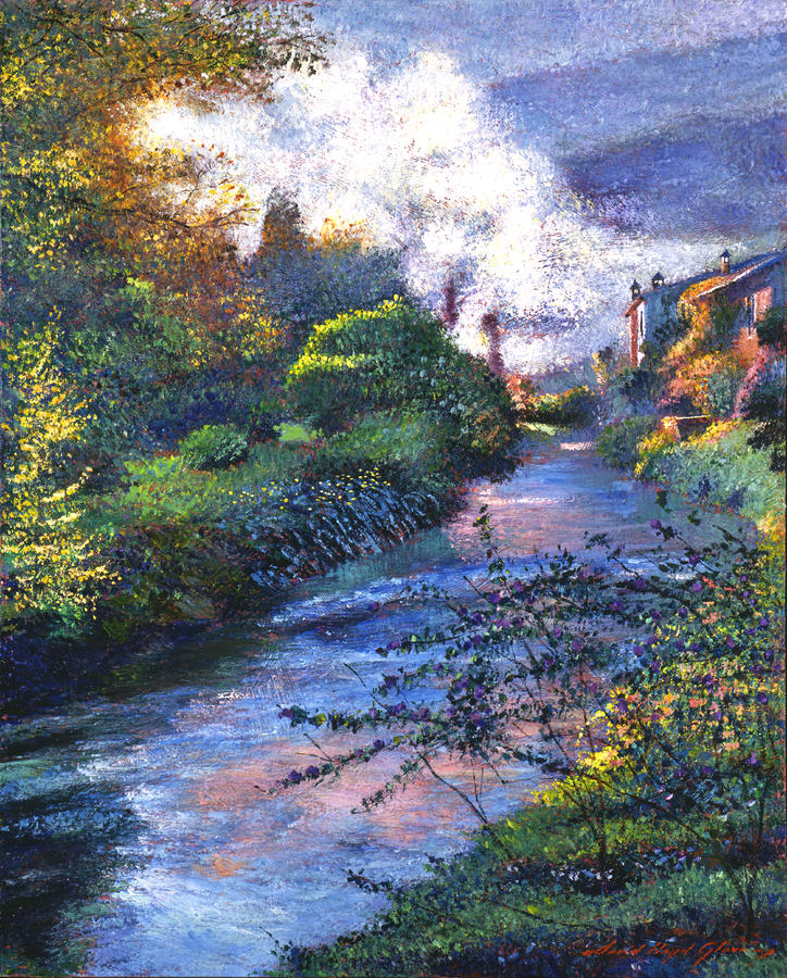 Provence River Painting