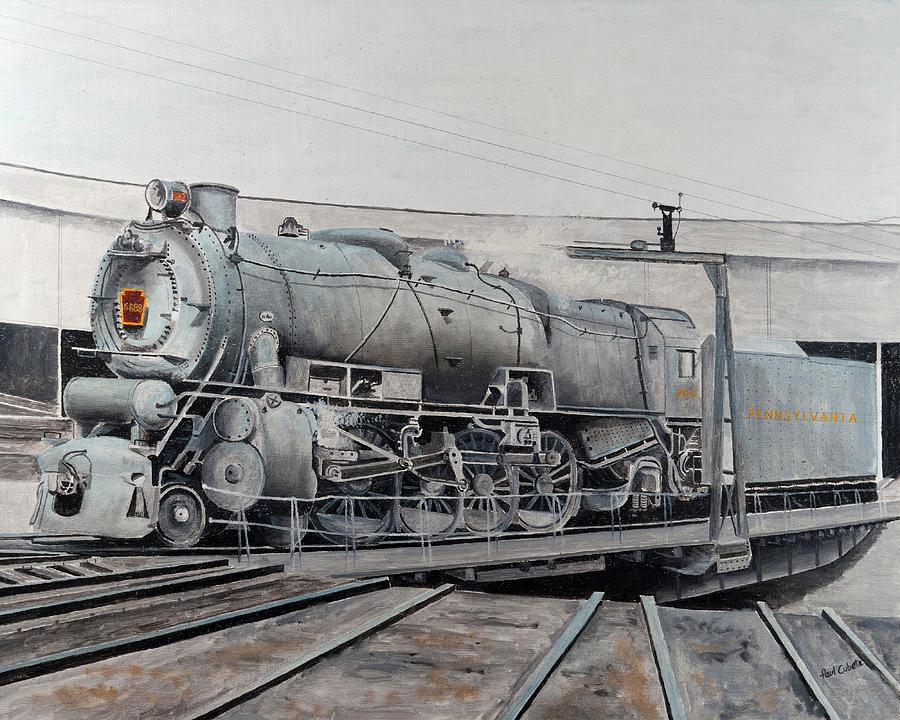 Prr M1 On Turntable Altoona Pa Painting