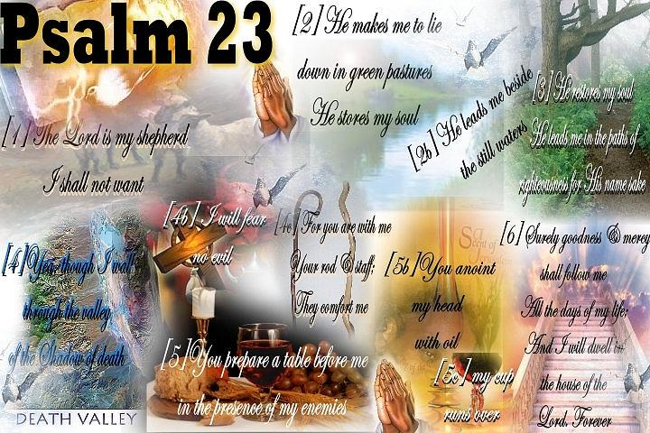 Psalm 23 Mixed Media  - Psalm 23 Fine Art Print