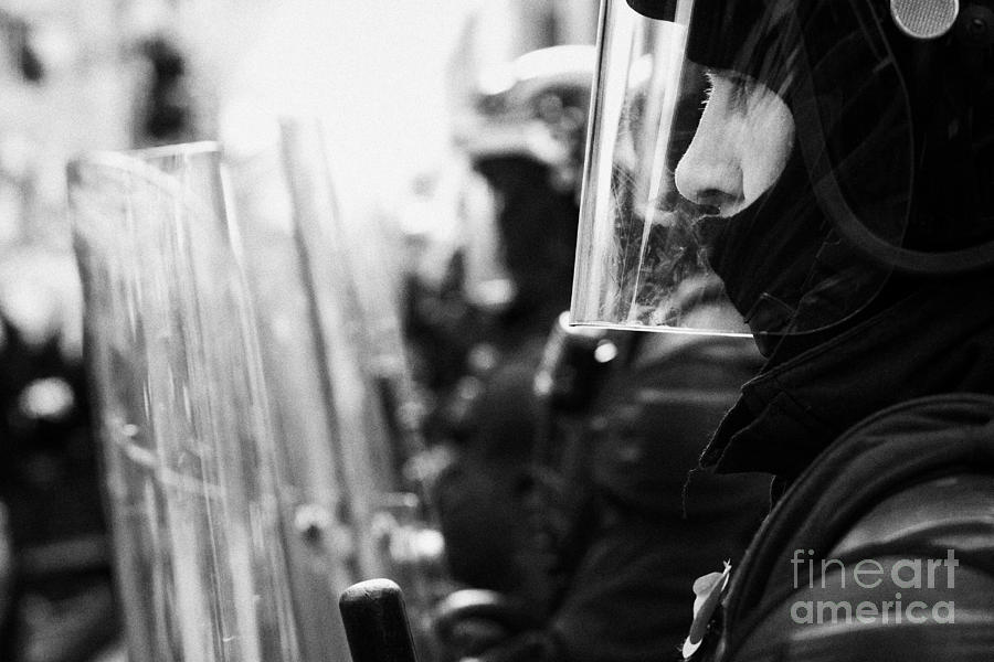 Psni Northern Ireland Riot Police Photograph  - Psni Northern Ireland Riot Police Fine Art Print
