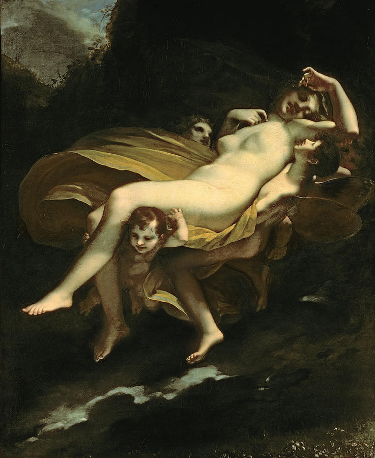 Psyche Transported To Heaven Painting