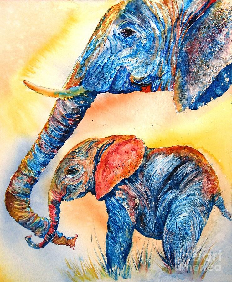 Psychedelephants Painting