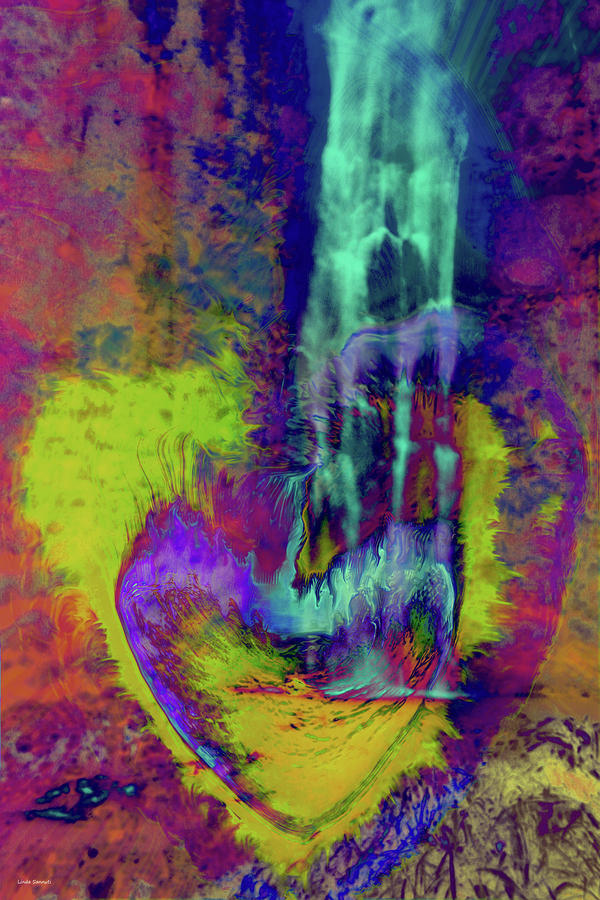 Psychedelic Love Digital Art - Psychedelic Love by Linda Sannuti