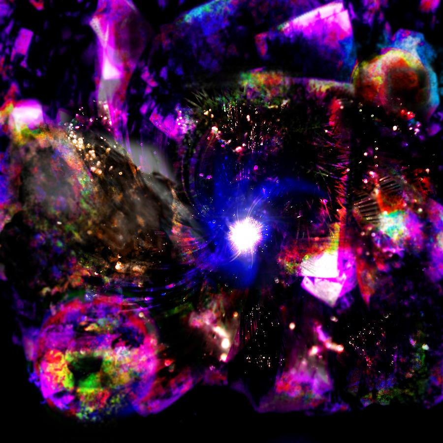 Psychedelic Rainbow Nebula Galaxy Universe Digital ArtUniverse Galaxy Art
