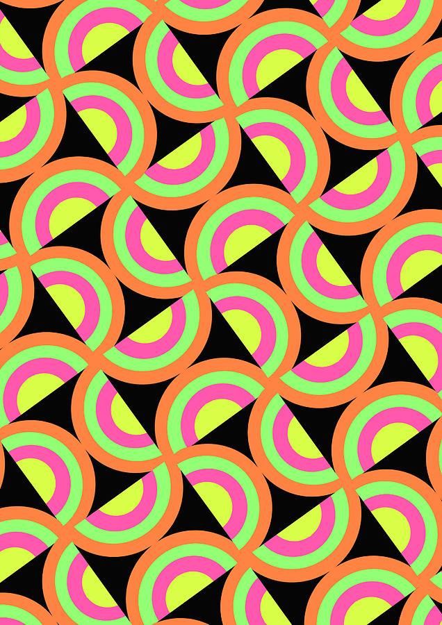 Psychedelic Squares Digital Art