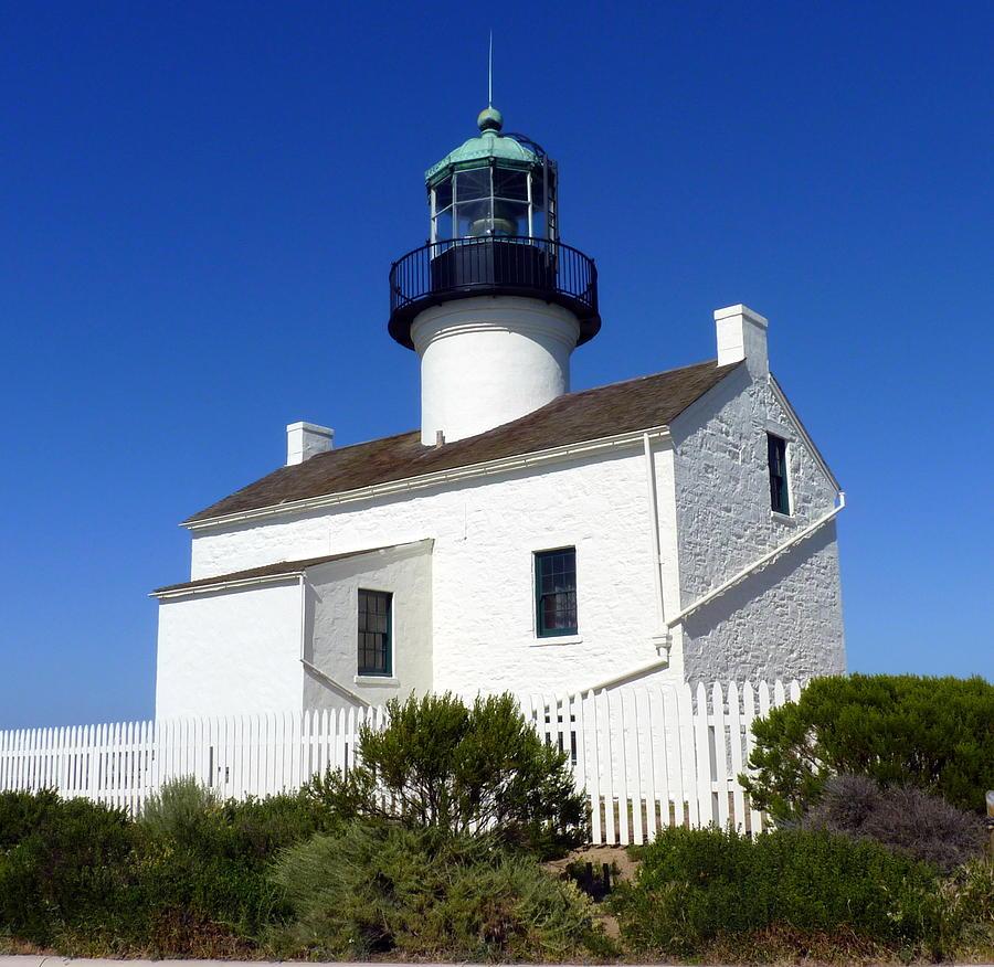Light Photograph - Pt. Loma Lighthouse by Carla Parris