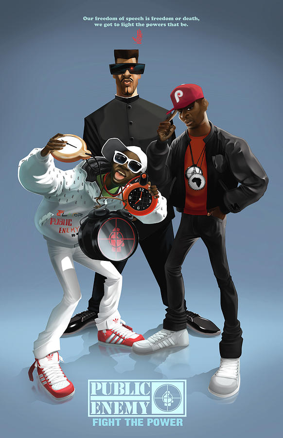 Public Enemy Digital Art  - Public Enemy Fine Art Print