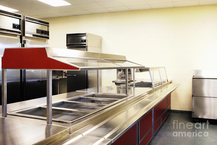 Public School Food Bins Photograph