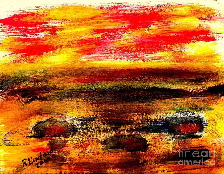 Puerto Panasco Beach Houses And Sunset 1 Painting