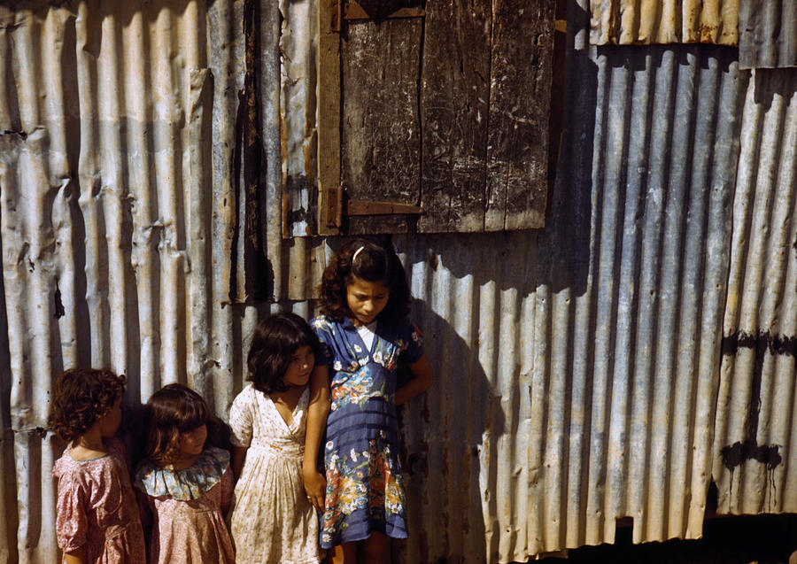Puerto Rico. Children Of Tenant Farmers Photograph