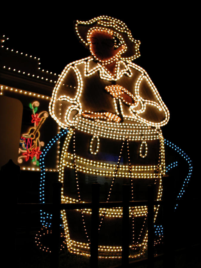 Puerto Rico Conga Man In Lights Photograph  - Puerto Rico Conga Man In Lights Fine Art Print