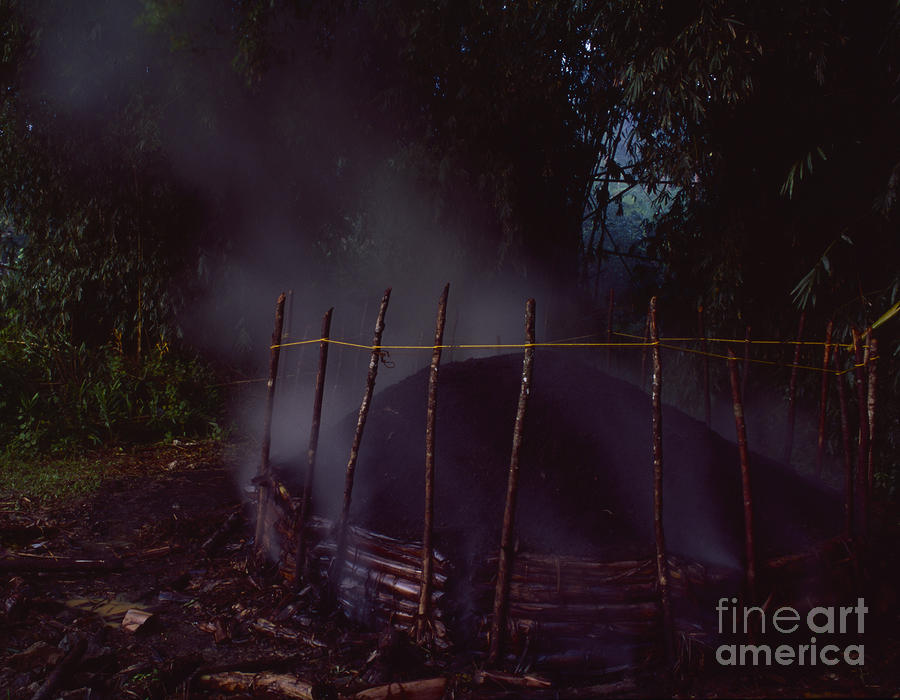 Puerto Rico Making Charcoal Photograph  - Puerto Rico Making Charcoal Fine Art Print
