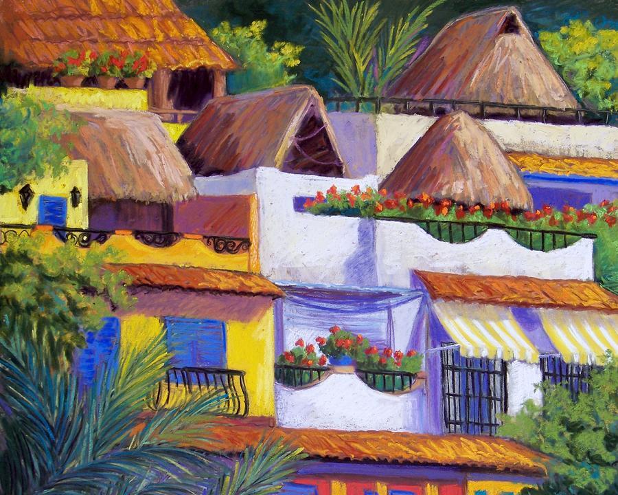 Puerto Vallarta Hillside Pastel