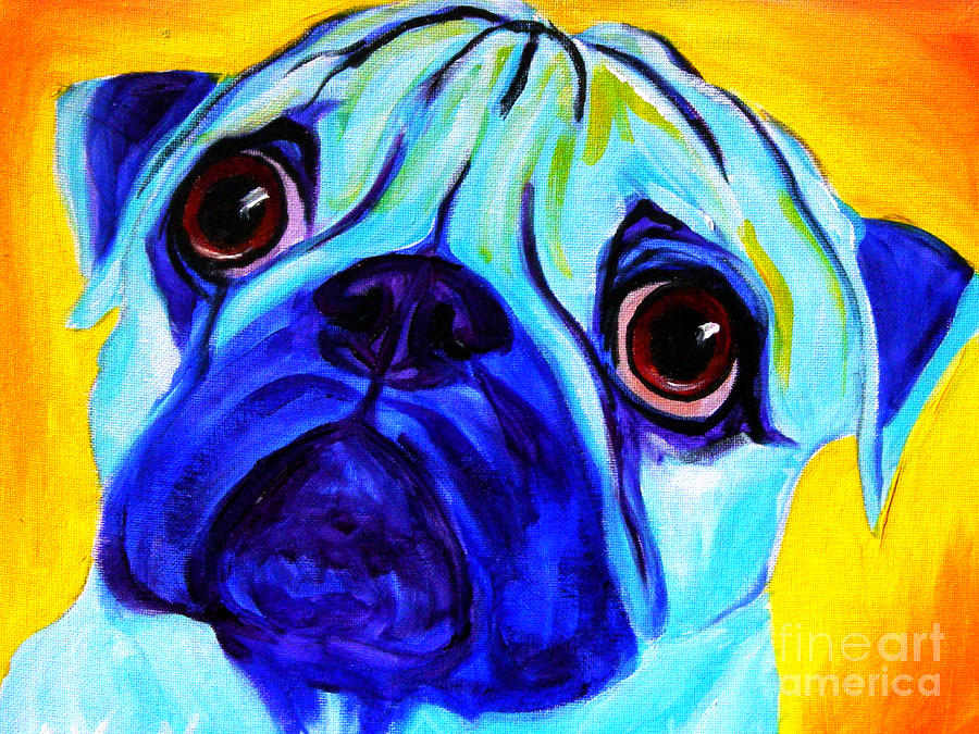 Pug - Sweetie Pug Painting
