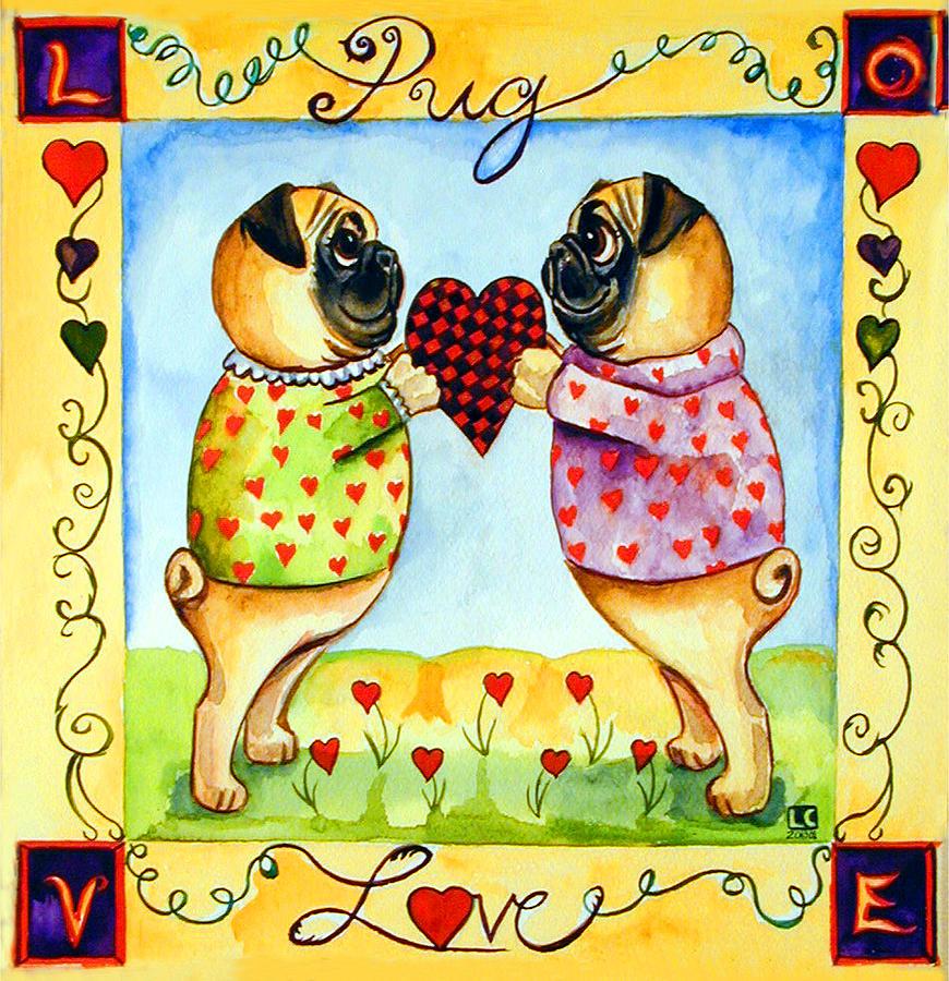 Pug Love Painting