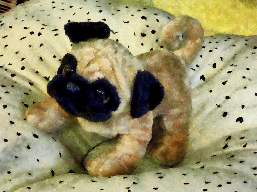 Pug On Pillow Photograph