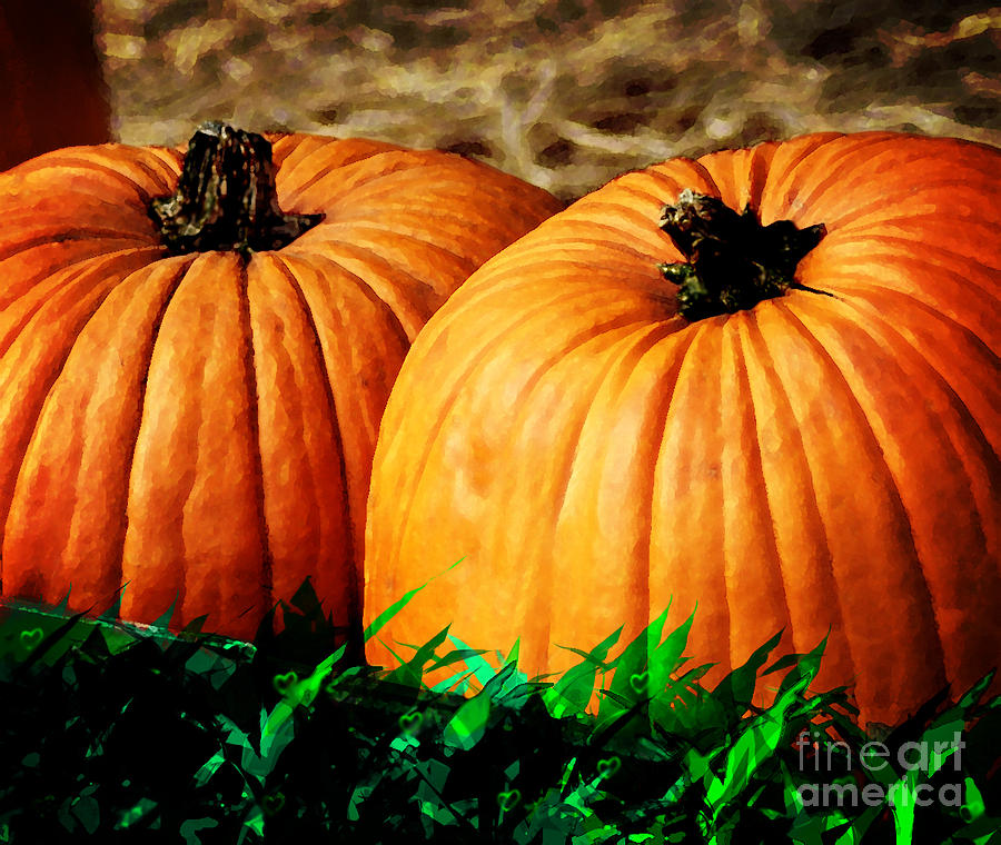 Pumkin Party Digital Art  - Pumkin Party Fine Art Print