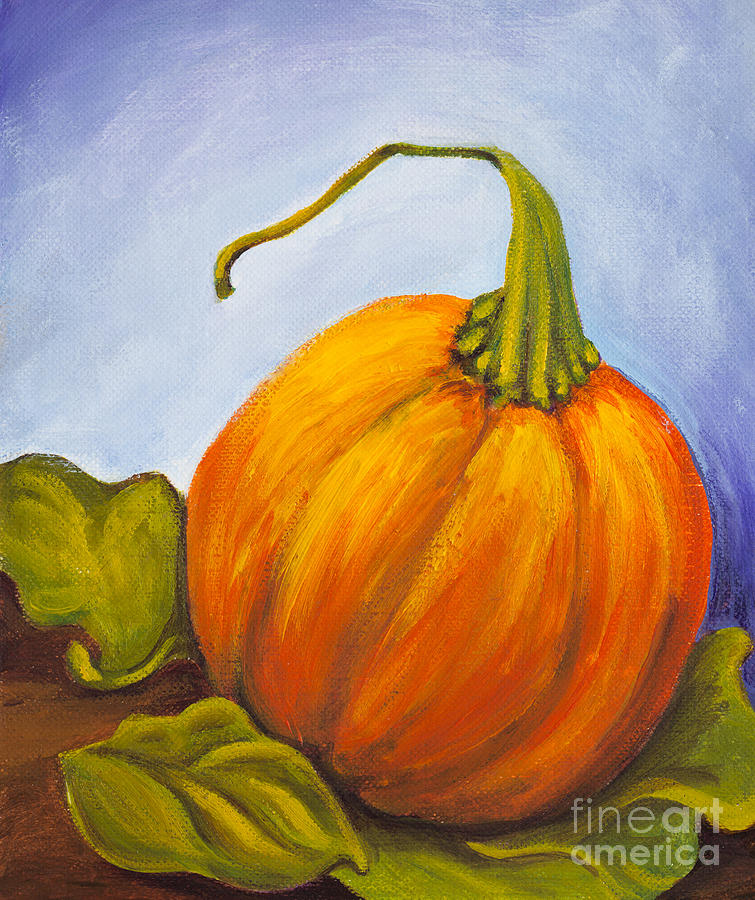 Pumpkin Painting  - Pumpkin Fine Art Print